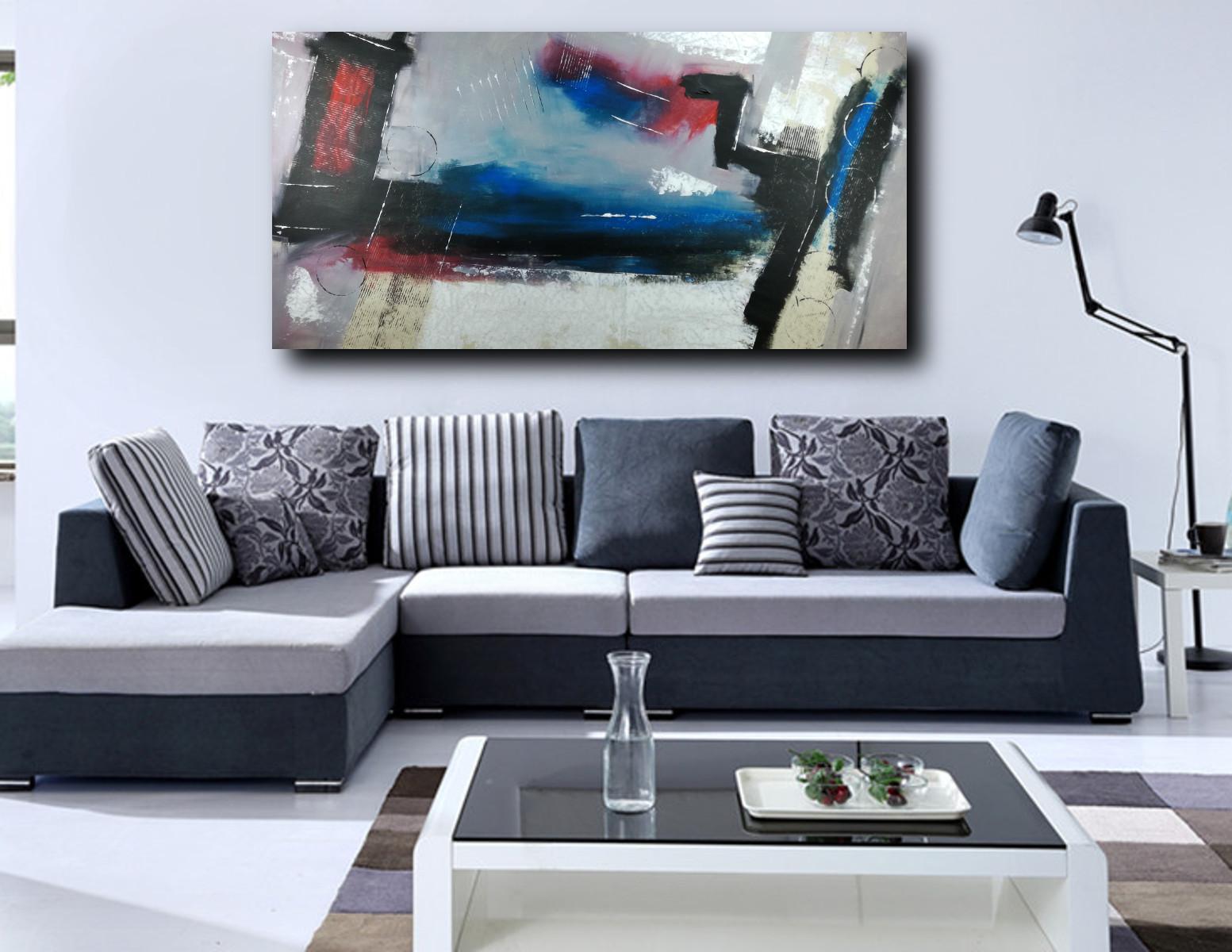 quadri per soggiorno grandi dimensioni 180x90 astratto moderno