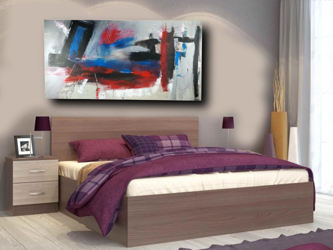 quadro per soggiorno grandi dimensioni 180x90 astratto