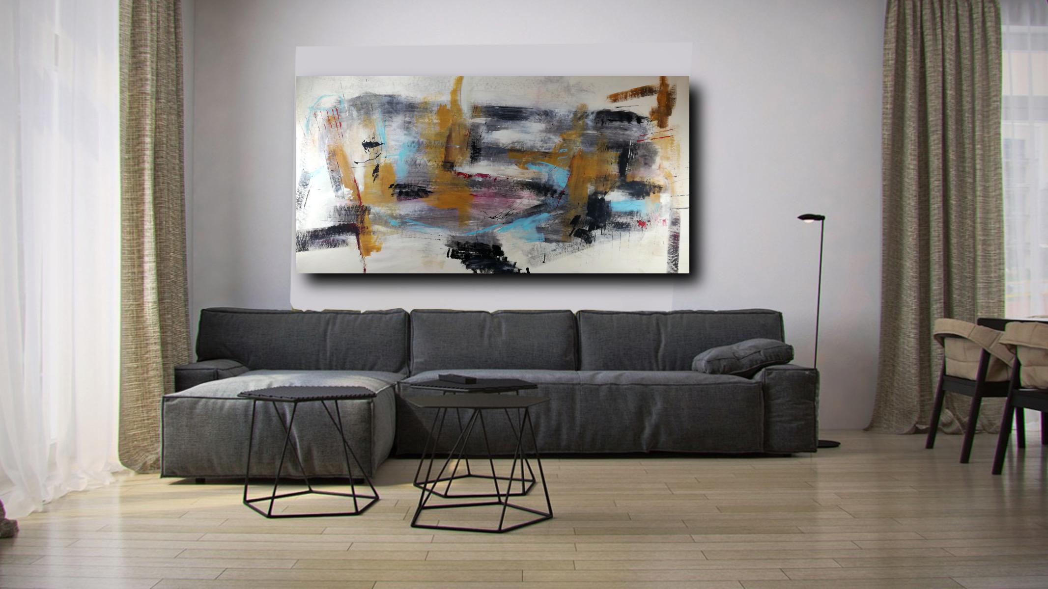 quadri dipinti a mano grandi astratti su tela 200x100