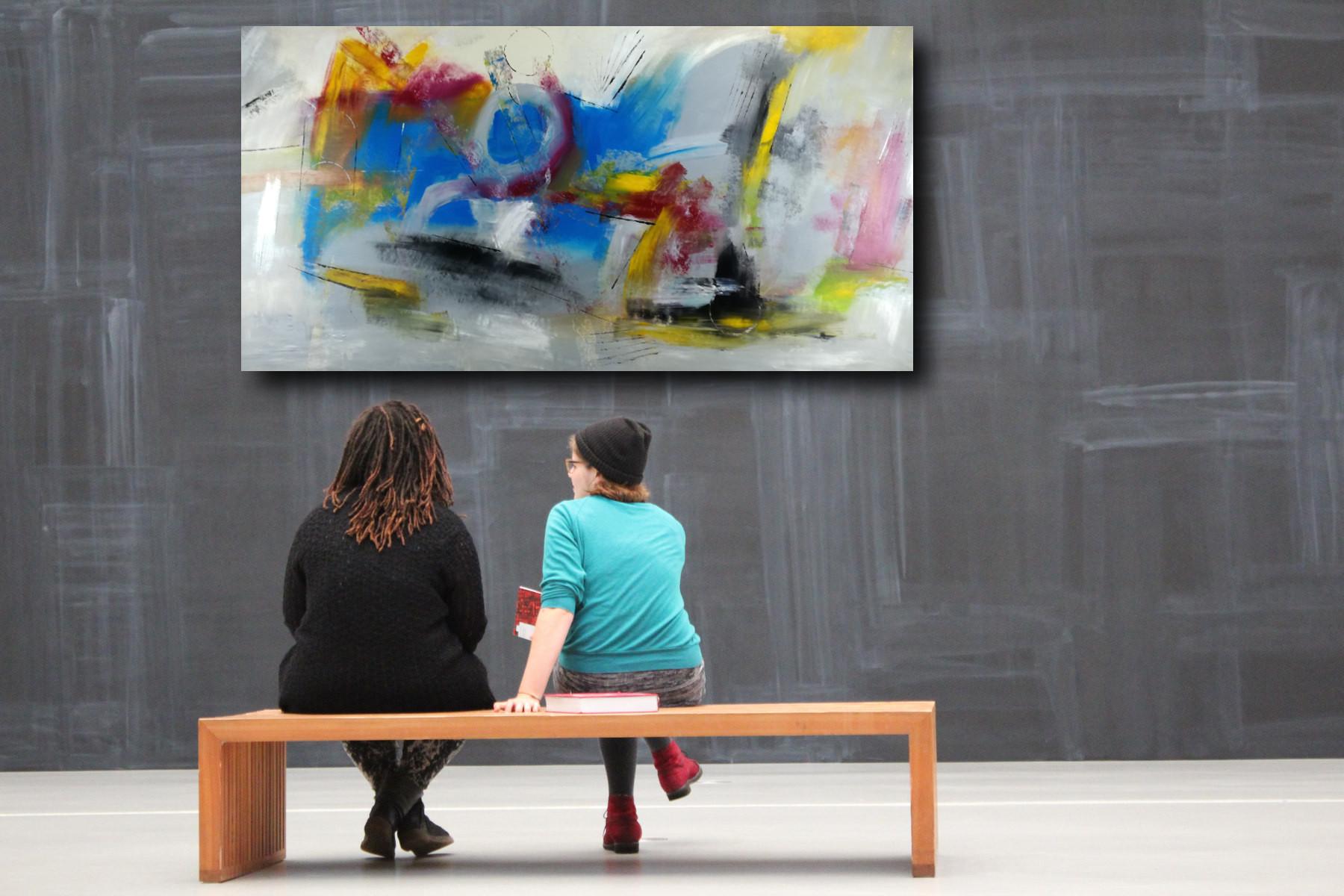 dipinti a mano grande astratto su tela 200x100