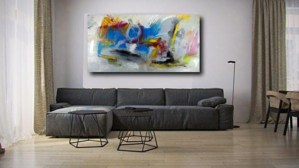 quadri enormi su tela c312 600x338 - dipinti a mano grande astratto su tela 200x100