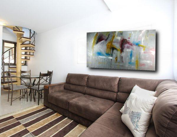 quadri su tela grandi astratti c314 600x466 - dipinto a mano grande astratto moderno su tela 200x100
