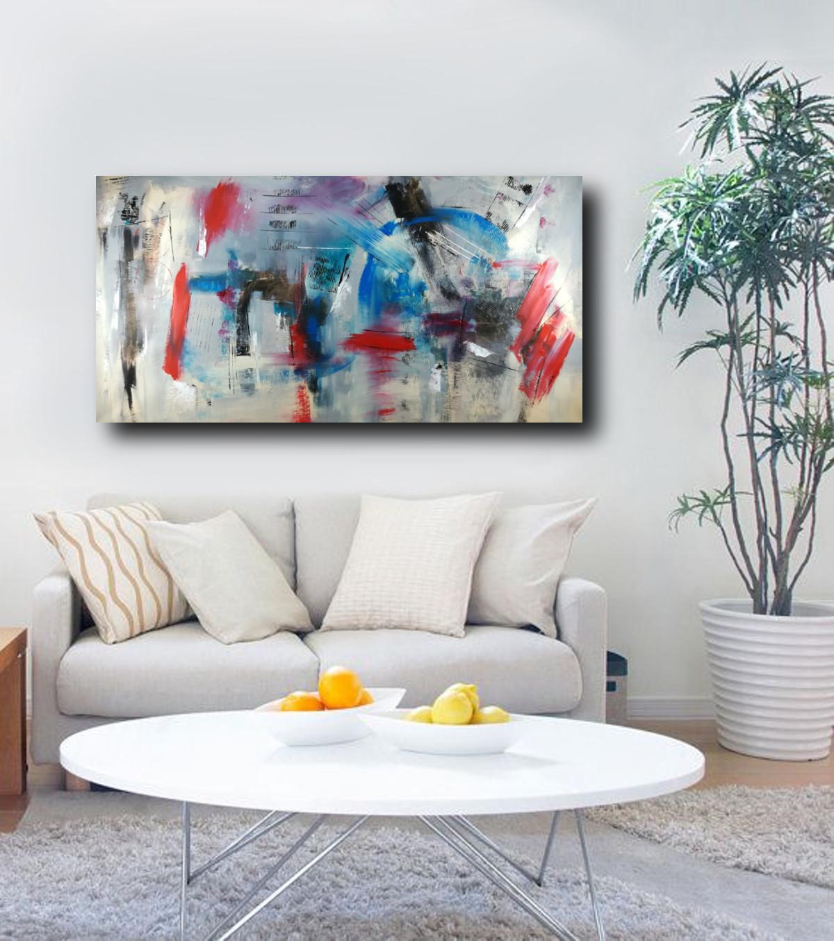 quadri per salotto grandi dimensioni 180x90 astratto