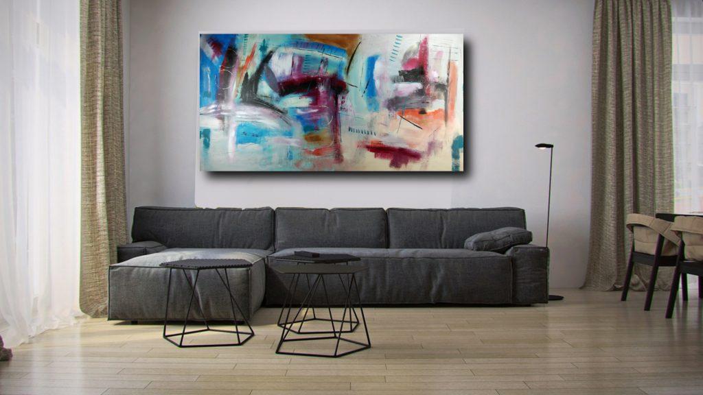 quadro astratto moderno c313 1024x576 - quadri moderni per arredamento