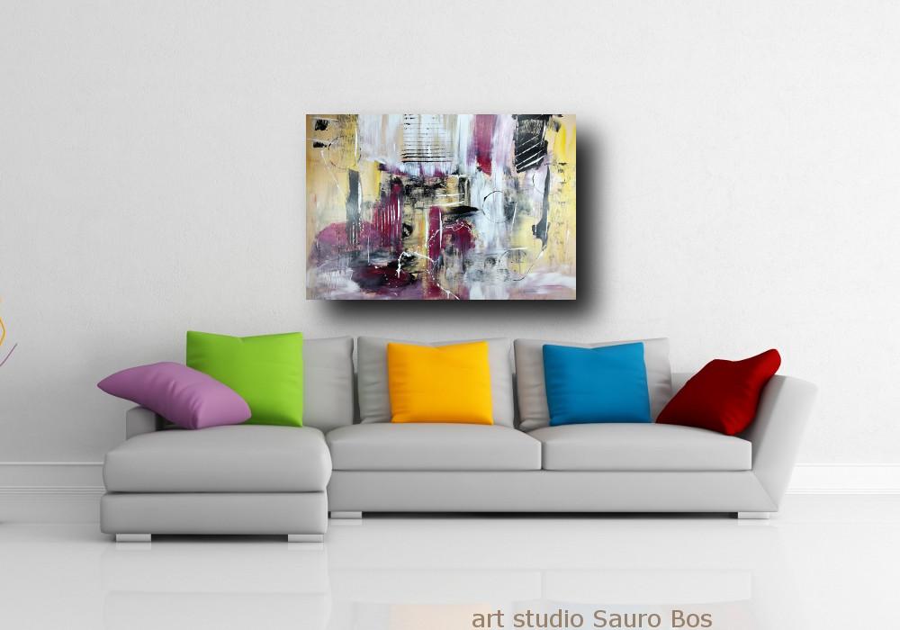 dipinto su tela astratto 120x80 | sauro bos