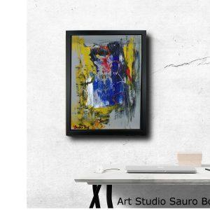 astratto za001 300x300 - dipinto su tela astratto 30x40 con cornice