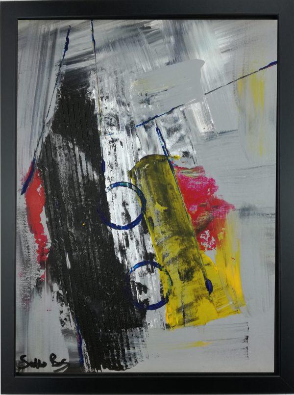 astratto za003 30x40 600x805 - dipinto su tela astratto 30x40 con cornice za003
