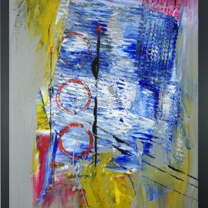 astratto za004 300x300 - dipinto su tela astratto 30x40 con cornice za004