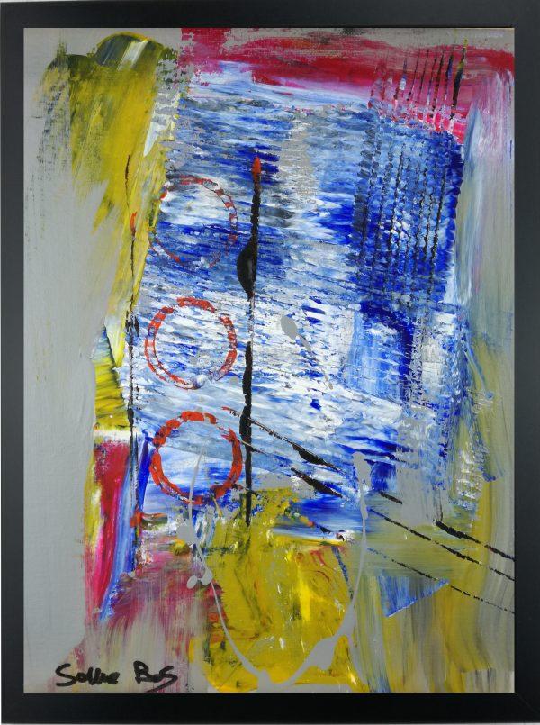 astratto za004 600x805 - dipinto su tela astratto 30x40 con cornice za004