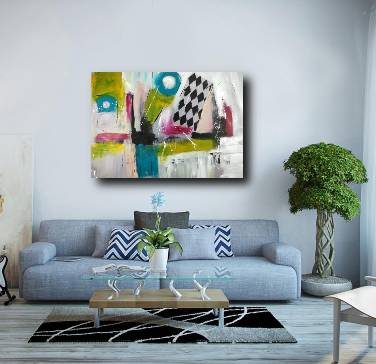 quadro su tela 120x80 astratto   sauro bos