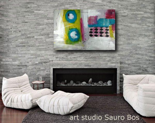 quadro astratto su caminetto c331 600x475 - astratto su tela 120x80