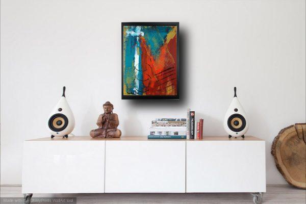 quadro moderno geometrico za010 600x400 - quadro su tela astratto 30x40 con cornice za010
