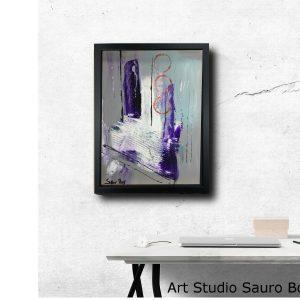 tavolo interior 30x40za002 300x300 - dipinto su tela astratto 30x40 con cornice za002