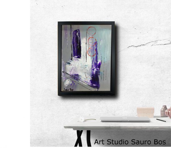 tavolo interior 30x40za002 600x522 - dipinto su tela astratto 30x40 con cornice za002