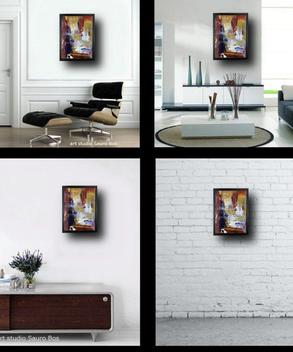 astratto con cornice soggiorno za025 600x720 - quadro su tela astratto 30x40 con cornice za025
