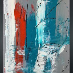 dipinto a mano astratto za015 300x300 - quadro su tela astratto 30x40 con cornice za015