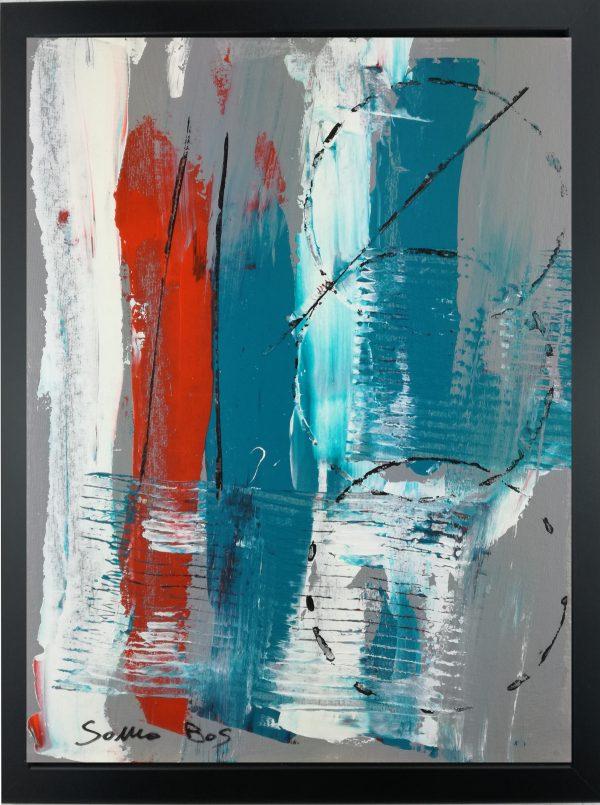 dipinto a mano astratto za015 600x805 - quadro su tela astratto 30x40 con cornice za015