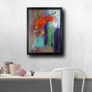 dipinto a mano con cornice za023 300x300 - offerta del giorno