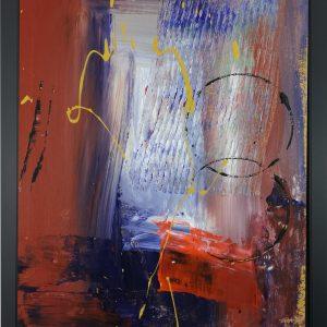dipinto a mano con cornice za029 300x300 - quadro su tela astratto 30x40 con cornice za029