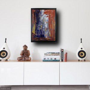 madia olio su tela dipinto a mano za011 300x300 - Quadri Astratti Verticale