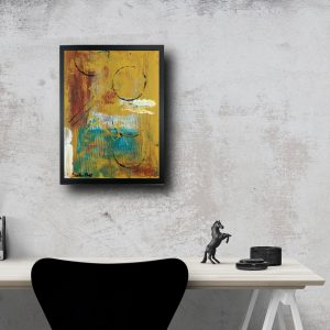quadro astratto con cornice nera za026 300x300 - quadro-su tela geometrico 120x80