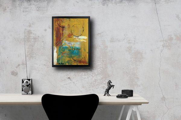 quadro-astratto-con-cornice-nera-za026