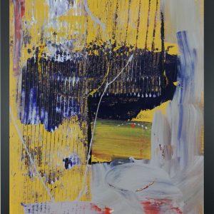 quadro astratto giallo za012 300x300 - quadro su tela astratto 30x40 con cornice za012