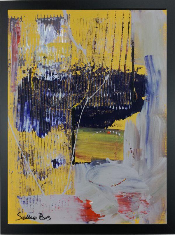 quadro astratto giallo za012 600x805 - quadro su tela astratto 30x40 con cornice za012