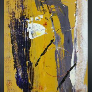 quadro con cornice astratto giallo za014 300x300 - quadro su tela astratto 30x40 con cornice za014