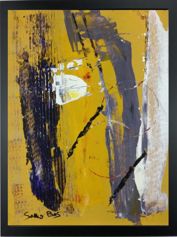 quadro con cornice astratto giallo za014 600x805 - quadro su tela astratto 30x40 con cornice za014