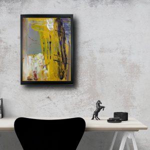 quadro con cornice astratto za019 300x300 - quadro su tela astratto 30x40 con cornice za019