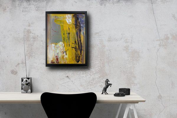 quadro con cornice astratto za019 600x400 - quadro su tela astratto 30x40 con cornice za019