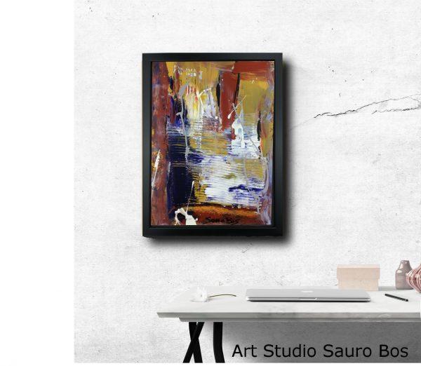 quadro con cornice za025 600x522 - quadro su tela astratto 30x40 con cornice za025