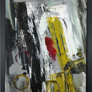 quadro dipinto a mano con cornice za027 300x300 - quadro su tela astratto 30x40 con cornice za027