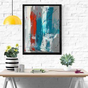 quadro dipinto a mano za015 300x300 - Quadri Astratti Verticale
