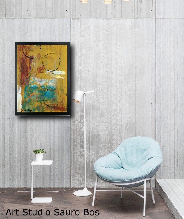 quadro dipinto a mano za026 600x715 - quadro su tela astratto 30x40 con cornice za026