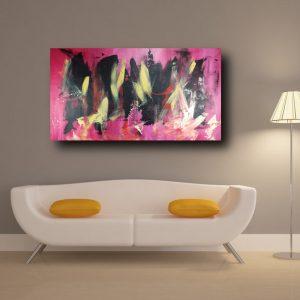 quadro moderno astratto su tela c361 300x300 - dipinto astratto 120x70 per soggiorno con cornice oro
