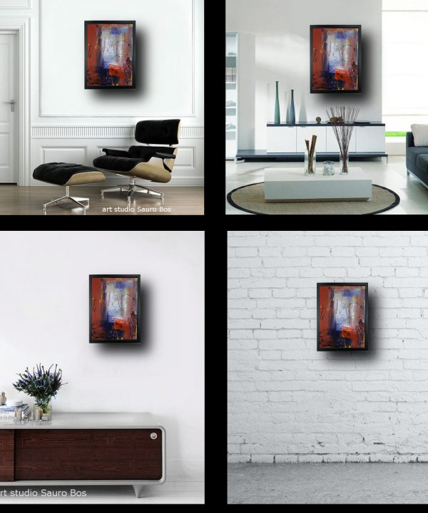 quadro per soggiorno con cornice za029 600x720 - quadro su tela astratto 30x40 con cornice za029