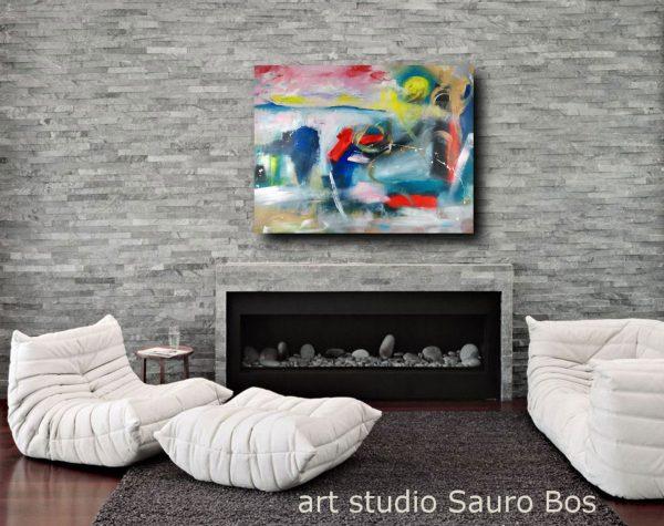 quadro paesaggio astratto su tela 600x475 - dipinto paesaggio moderno su tela 100x80