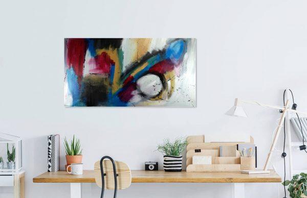 dipinto moderno su tela 600x388 - quadro astratto 150x80 per casa modena