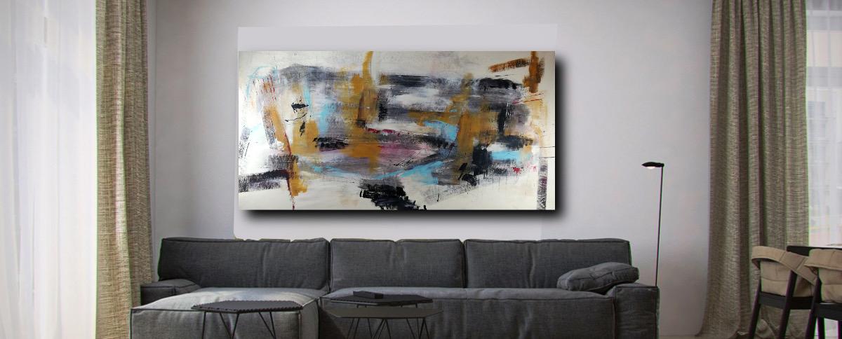 quadri astratti arte modena c301 - quadri astratti moderni per il soggiorno di casa