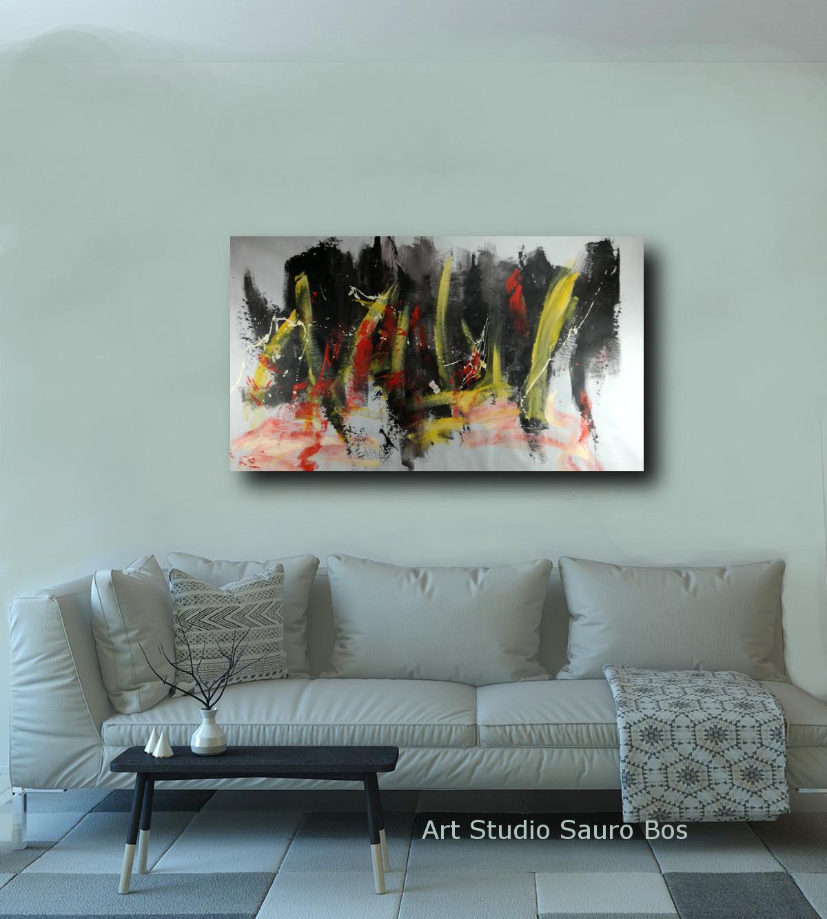 quadro astratto 150x80 per soggiorno