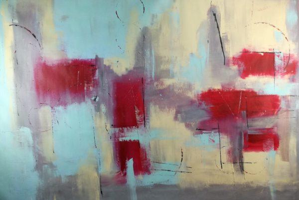 quadro astratto rosso c354 600x401 - quadro astratto 150x100 per arredamento moderno