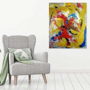 quadro astratto su tela c346 1 300x300 - dipinto su tela astratto 100x80