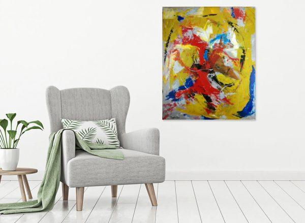 quadro astratto su tela c346 1 600x439 - dipinto su tela astratto 100x80