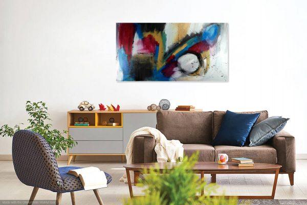quadro moderno astratto su tela 600x400 - quadro astratto 150x80 per casa modena