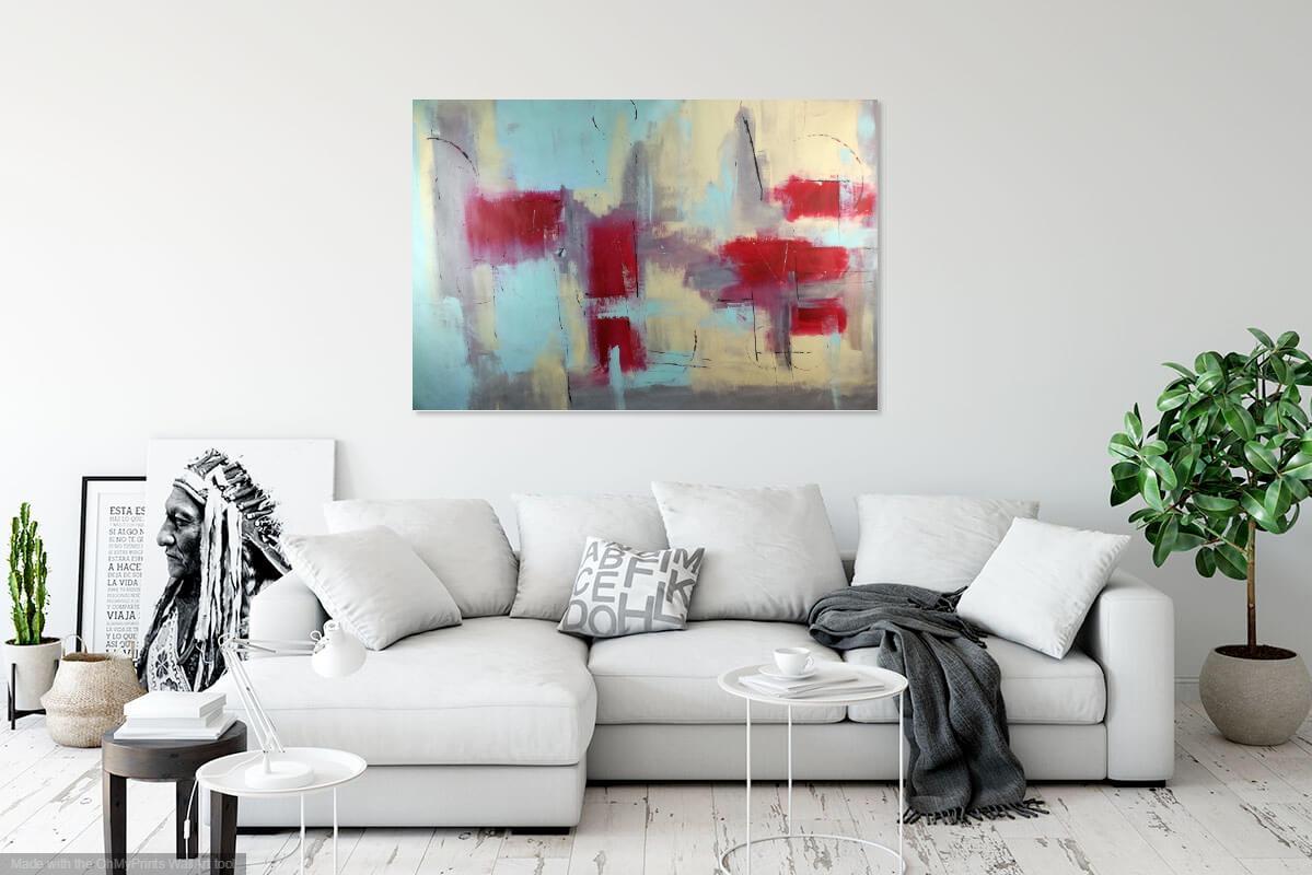 quadro astratto 150x100 per arredamento moderno | sauro bos