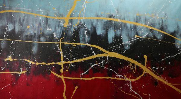 quadro su tela astratto c353 600x328 - dipinto astratto 150x80 per arredamento moderno