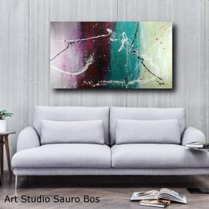 quadro colorato astratto c376 300x300 - dipinto a mano astratto contemporaneo 150x80