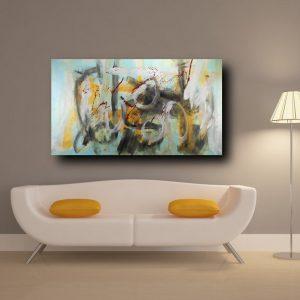 quadro su tela astratto c367 300x300 - dipinto a mano astratto contemporaneo 150x80